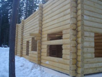 дом из лафета | srub-zima.ru +7 (499) 938 92 32