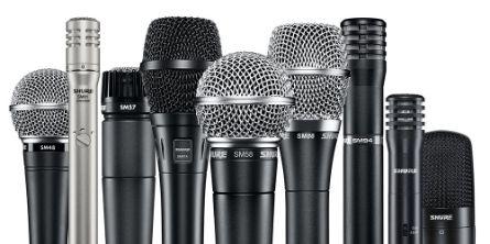 Проводные микрофоны Shure SM58 SM7B MX418