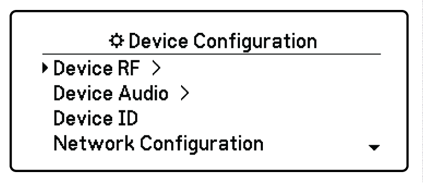 shure ad4qe device configuration menu