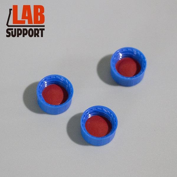 картинка Крышка с септой без прорези в сборе, для виал 2 мл 9DN, навинчивающаяся, 9-425, PTFE/силикон, 100 шт/уп от компании Лаб-Саппорт