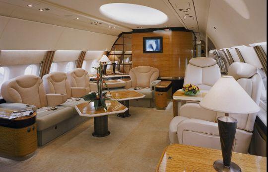 Интерьер частного самолета