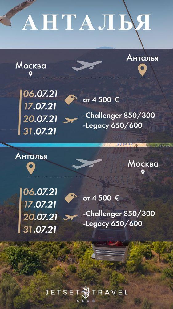 JetSharing Анталья Июль