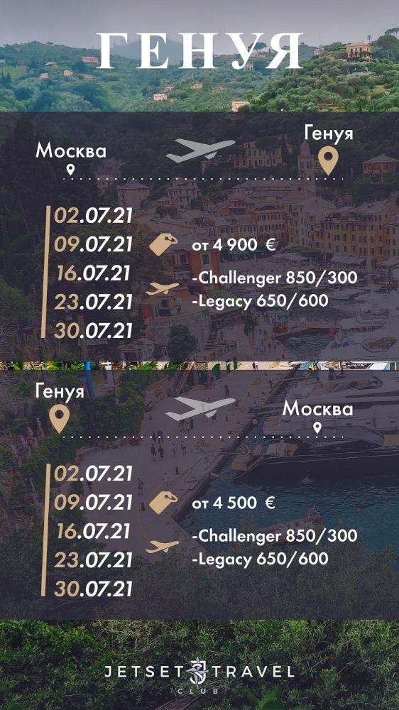 JetSharing Генуя Июль
