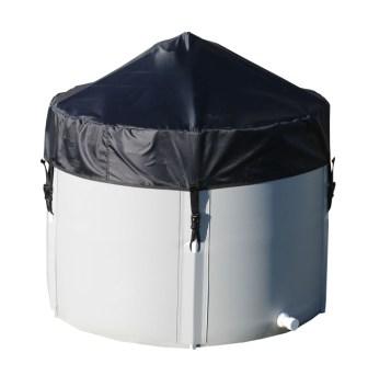 картинка Емкость 1500 л 70 см (с каркасом и крышкой) от EKUD