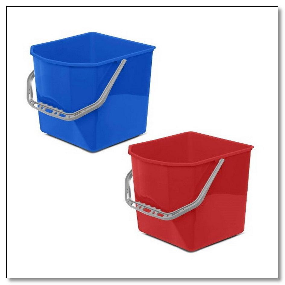Ведро 25л для уборочных тележек (синее, красное) 1 шт, интернет-магазин Убирай-Крым г.Симферополь
