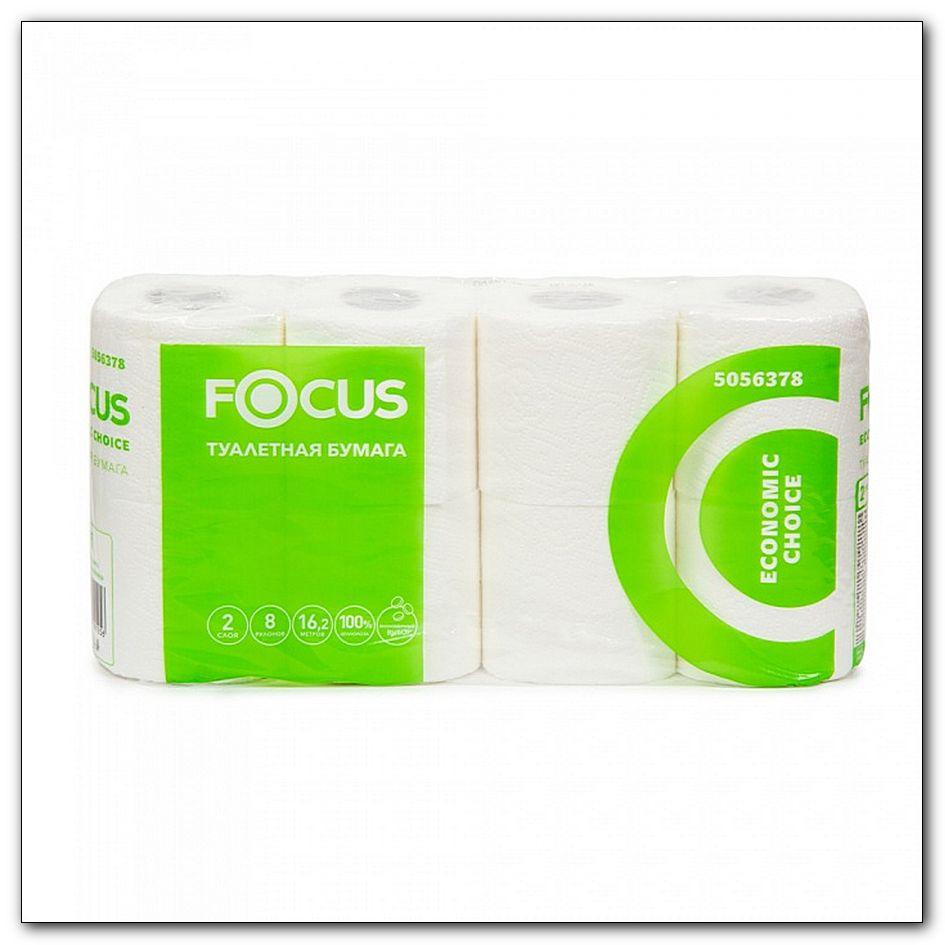 Туалетная бумага Focus, 8шт в упаковке, интернет-магазин Убирай-Крым г.Симферополь .