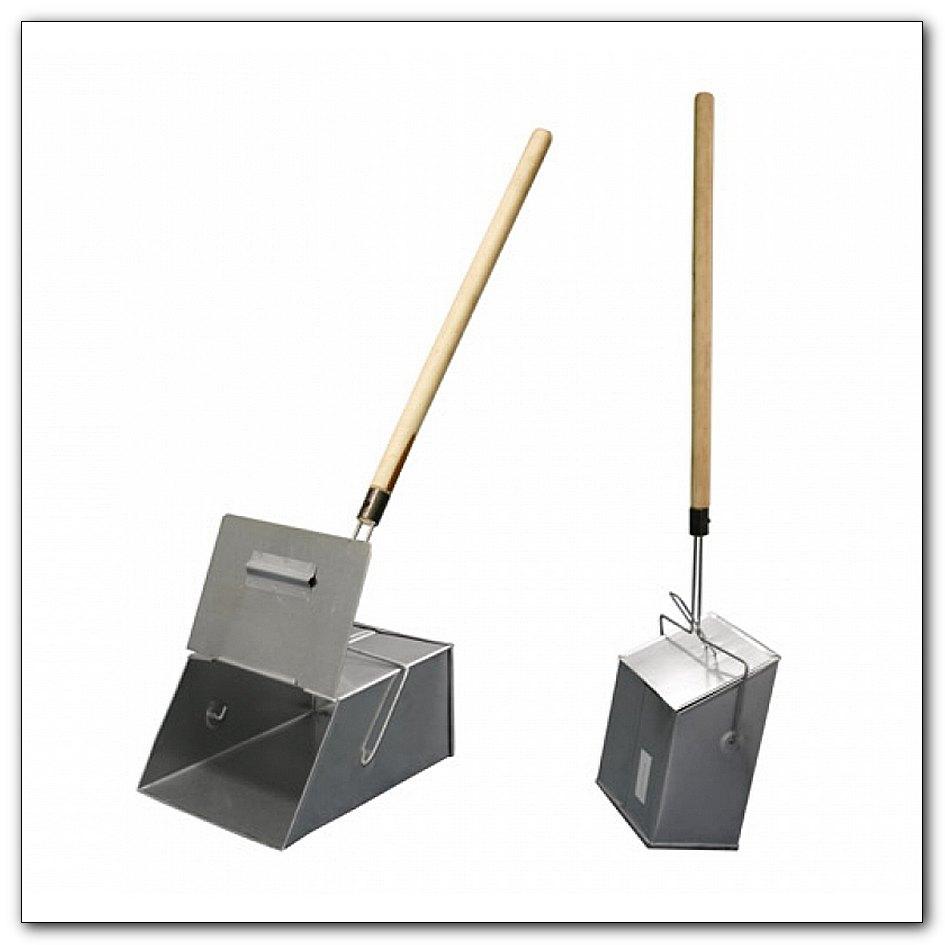 Совок-ловушка оцинкованный металлический с деревянной ручкой и крышкой, интернет-магазин Убирай-Крым г.Симферополь