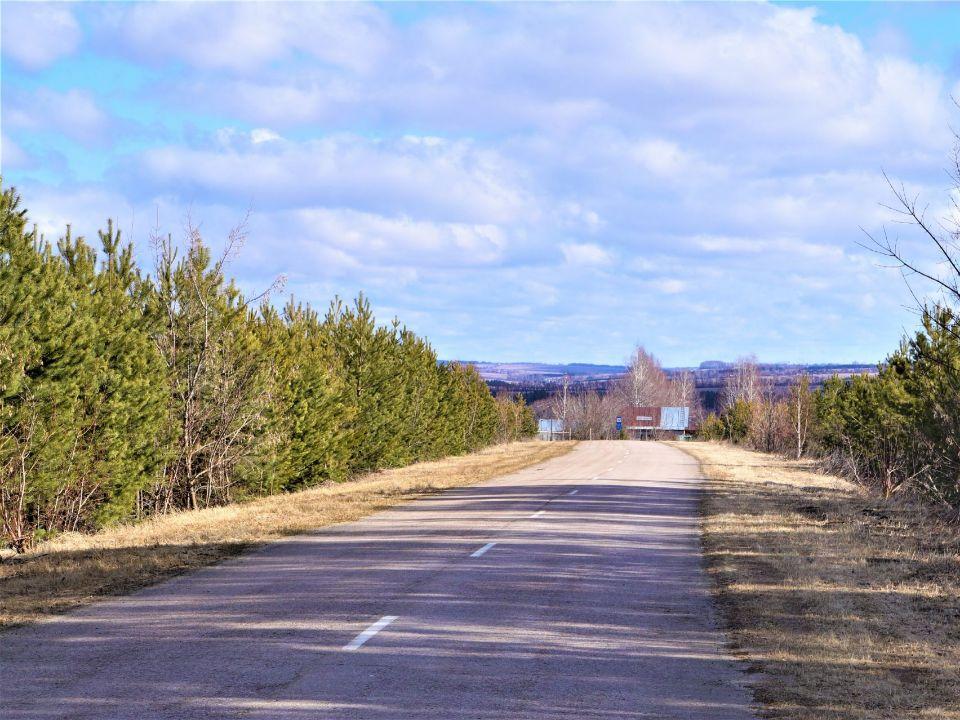 Дорога в поселении родовых поместий Просторное