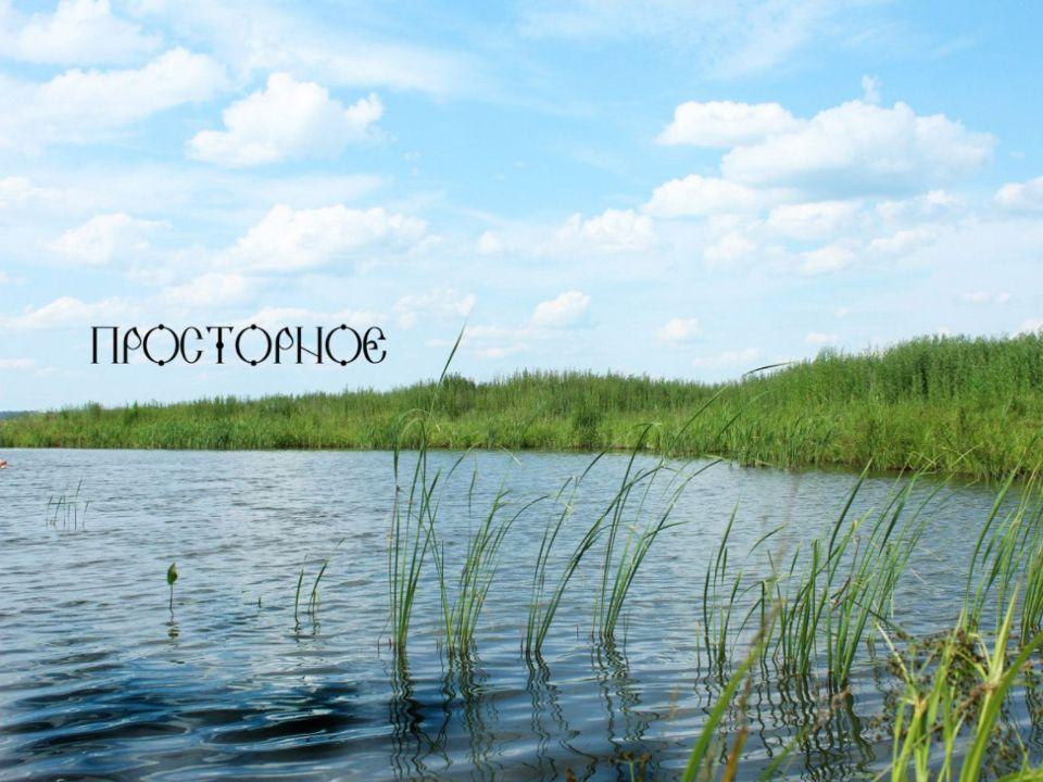 Озеро в поселении родовых поместий Просторное