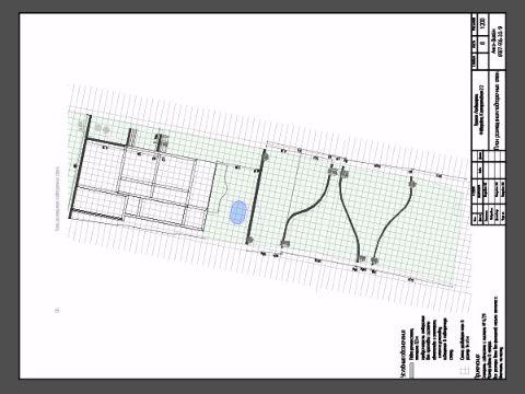 План размещения подпорочных стен