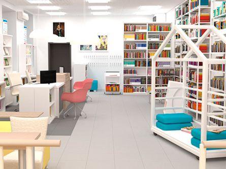 Дизайн-проект интерьера муниципальной детской библиотеки