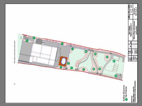 План размещения композиционных узлов на участке