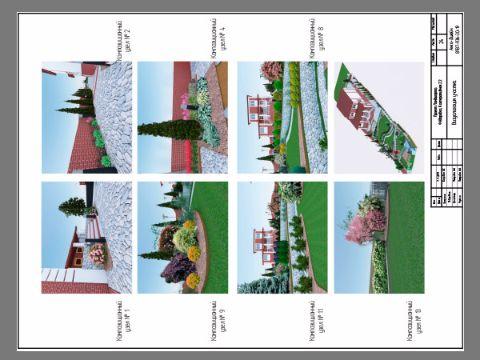 3d Визуализация участка ландшафтного проектирования в программе ArchiCad