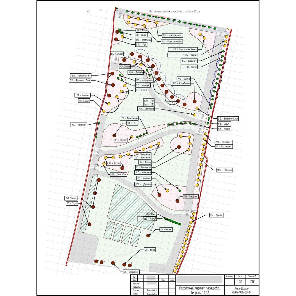 Посадочный-чертеж-Ландшафтный-дизайн-сада-AnkoDesign