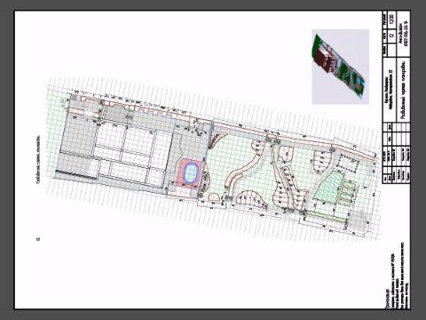 Разбивочный чертеж планировки участка