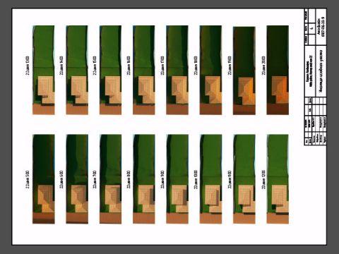 Визуаляция инсоляции участка