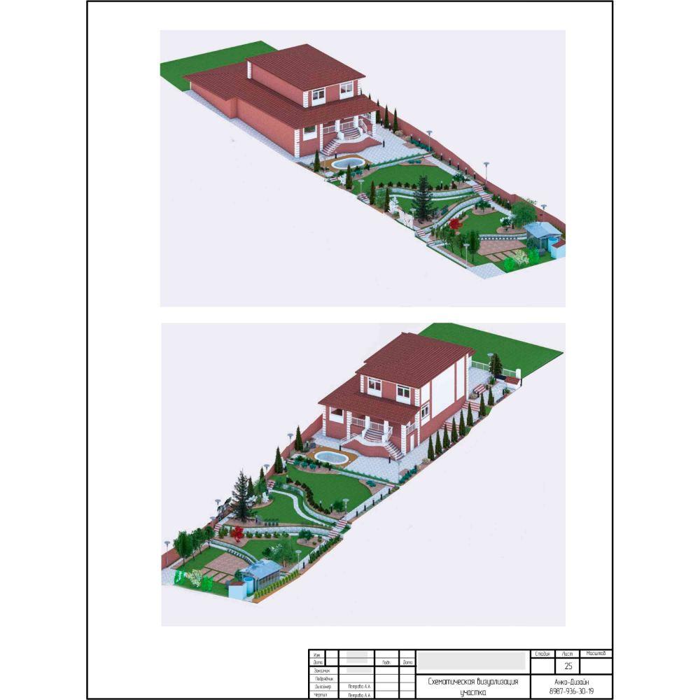 Схематическая-визуализация-участка-Ландшафтный-дизайн-сада-AnkoDesign