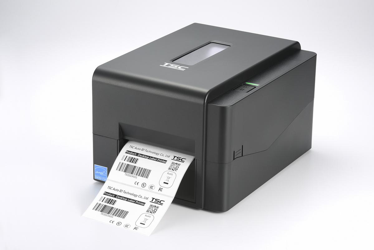 Принтер этикеток TSC TE200 U серый, в комплекте с риббоном