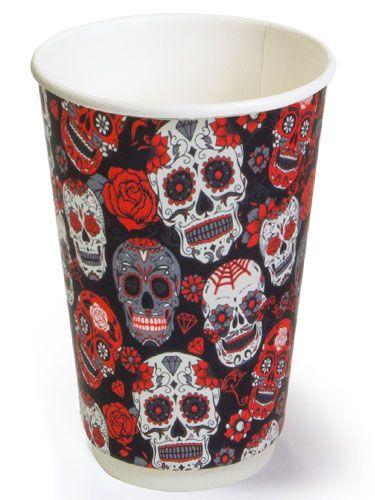 Двухслойный бумажный стакан thermoCup Santa Muerte