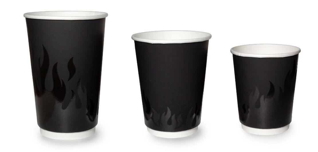 Двухслойные бумажные стаканы thermoCupОгонь