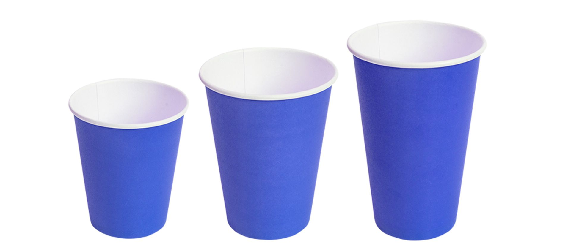 Бумажные стаканы Синие