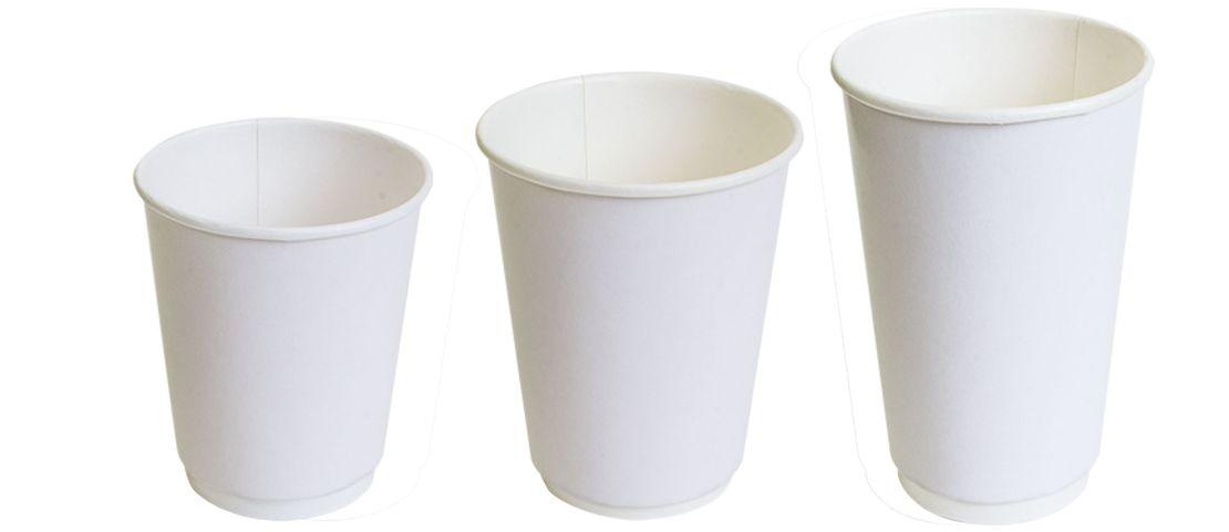 Двухслойные бумажные стаканы thermoCup белые