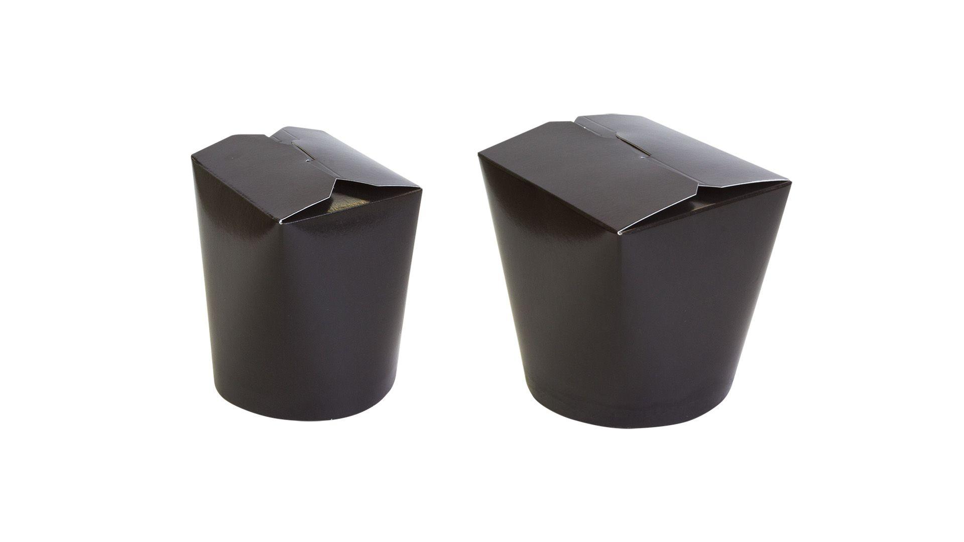 Бумажные чайна-боксы черные