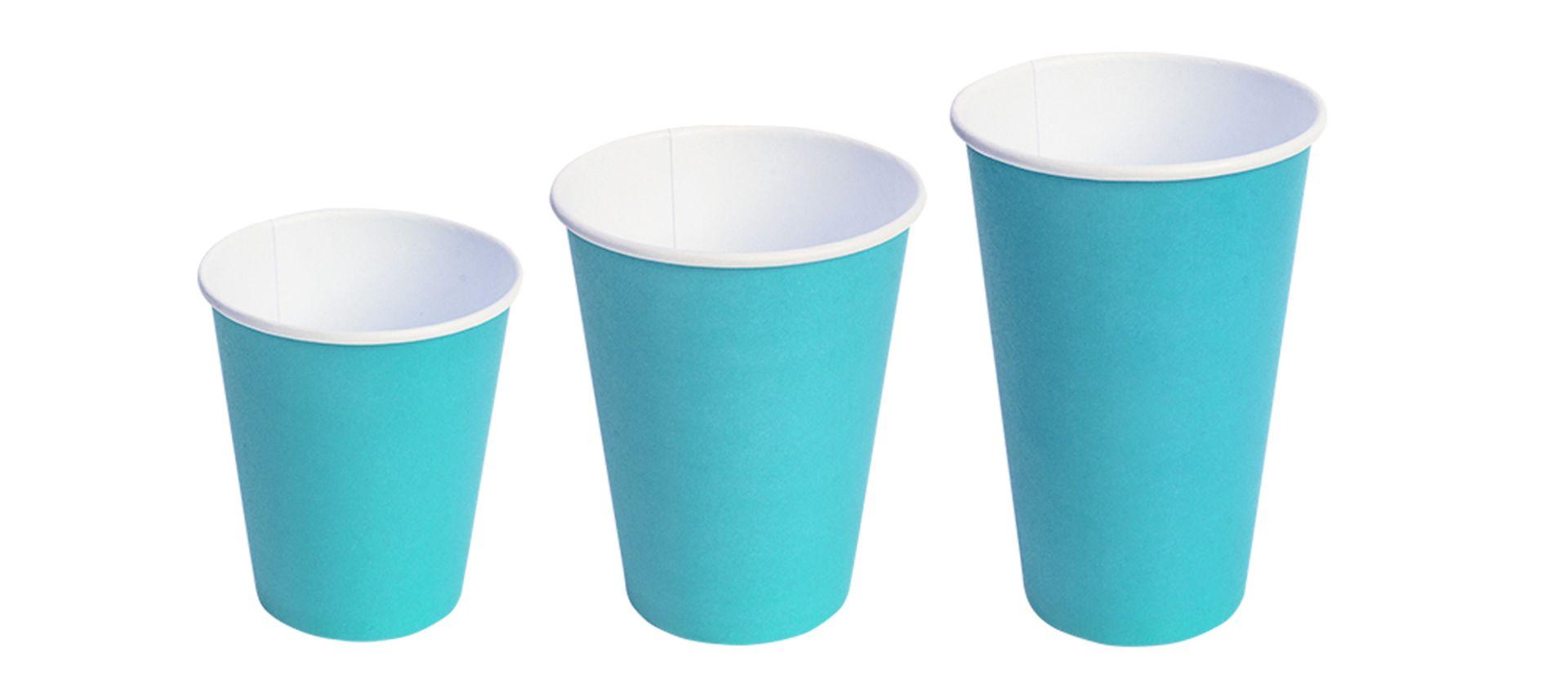 Бумажные стаканы Бирюзовый