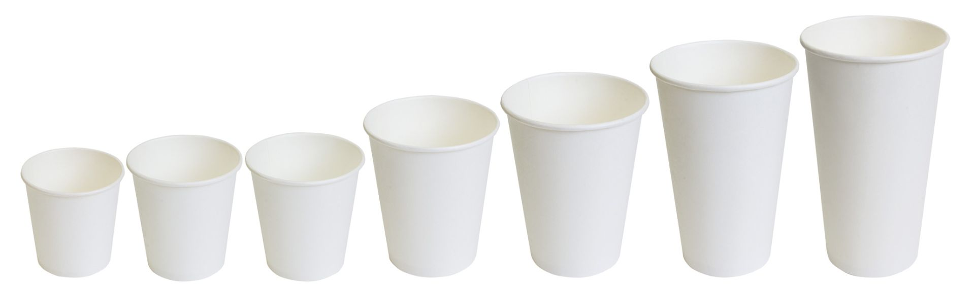 Бумажные стаканы белые