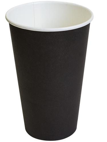 Бумажный стакан черный