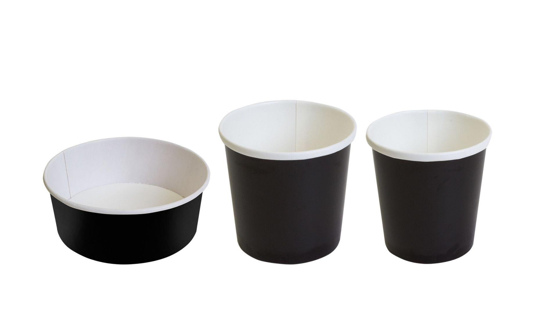 Бумажные контейнеры Черные