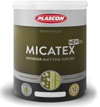 Всепогодная фасадная краска с тонкой шероховатой фактурой матовая Micatex от магазина премиальных японских красок Kansai paint