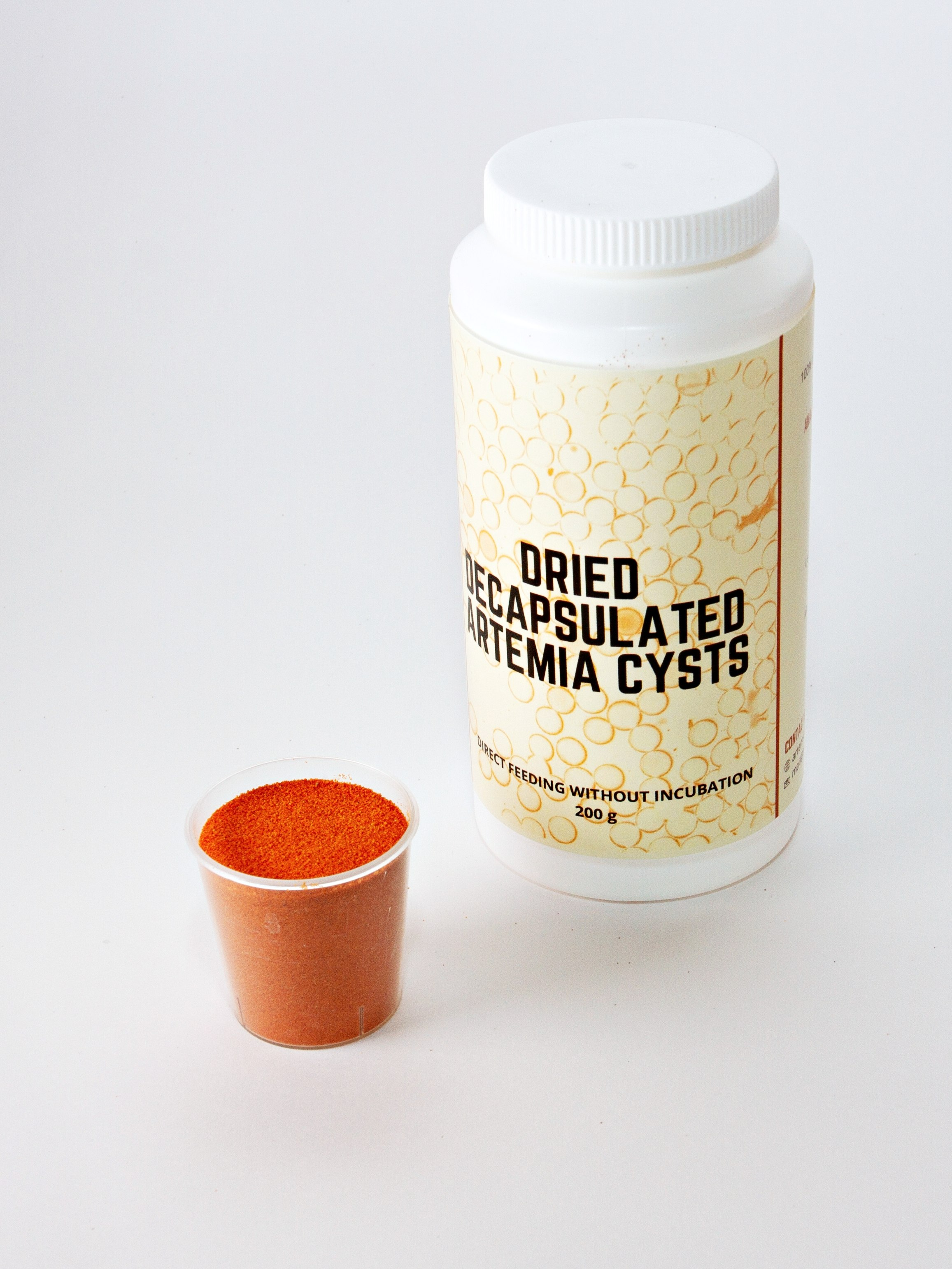 Dried Decapsulated Brine Shrimp Eggs - Direct Feeding Without Incubation 60 g