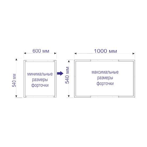 картинка Форточка Vent-L F03 безрамная для радиальных теплиц от магазина Vent-L