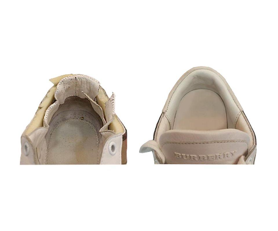 Реставрация задника кроссовок