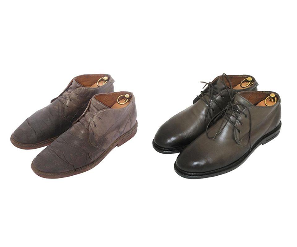 Реставрация осенних ботинок