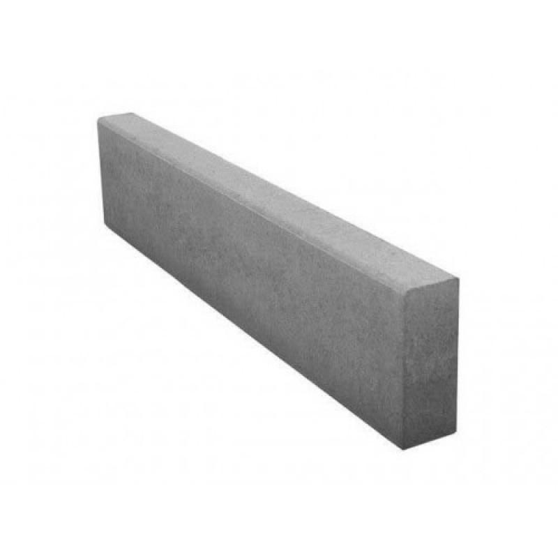 Бордюр вибропресс серый 1000x200x80 мм