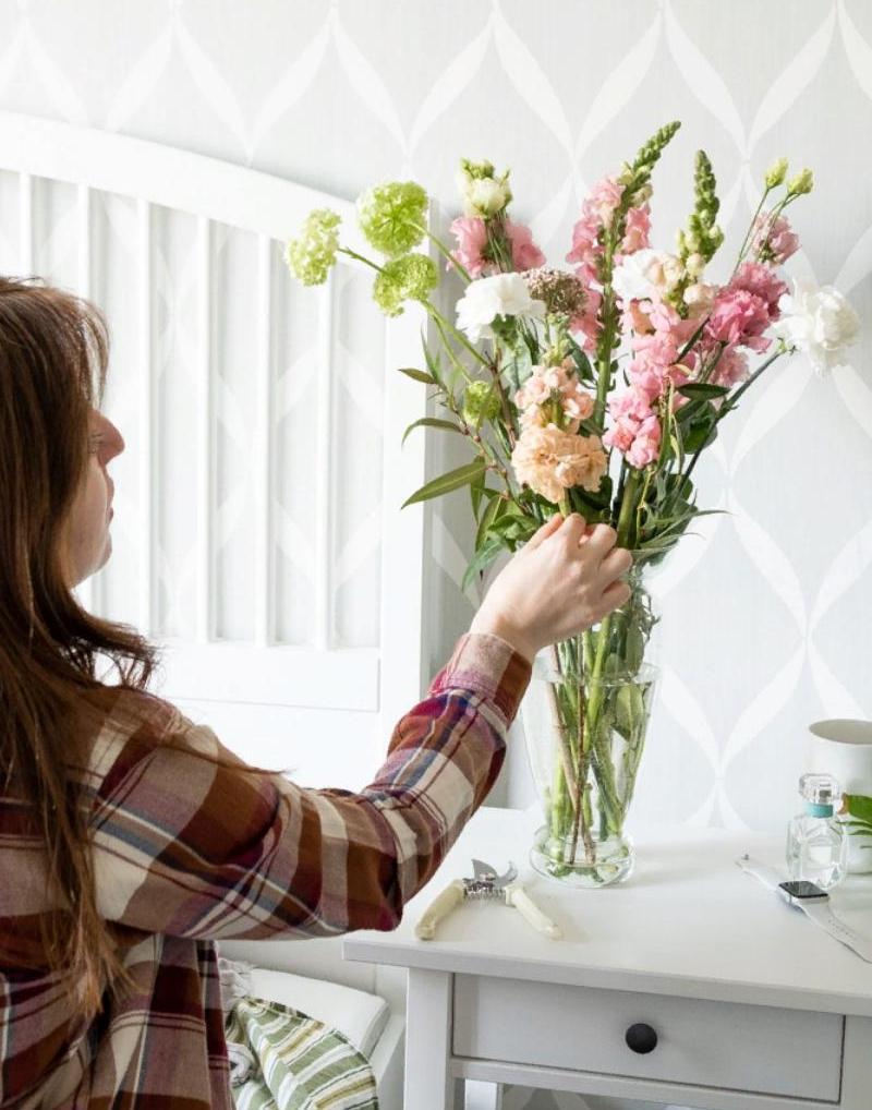 Цветочный бокс садовый от магазина Mate flowers