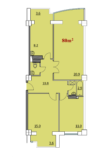 Apartament cu 2 dormitoare