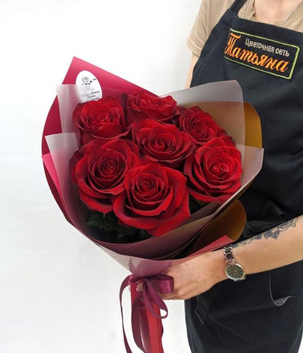 Букет дня из 7 роз (цвет на выбор)