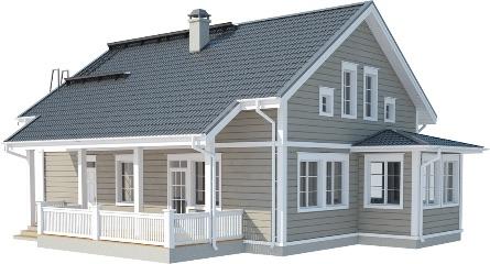 финский двухэтажный дом