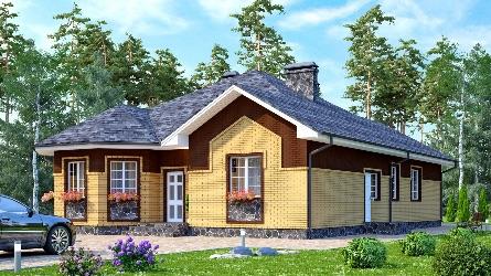 варианты одноэтажных домов