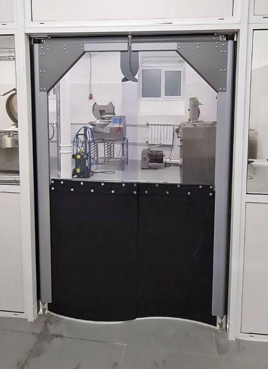 комбинированные маятниковые двери пвх