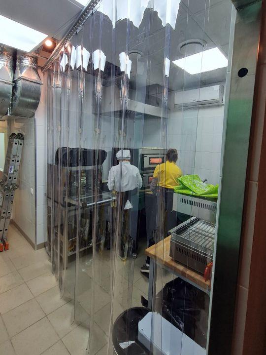полосовые ПВХ завесы для пищевого производства