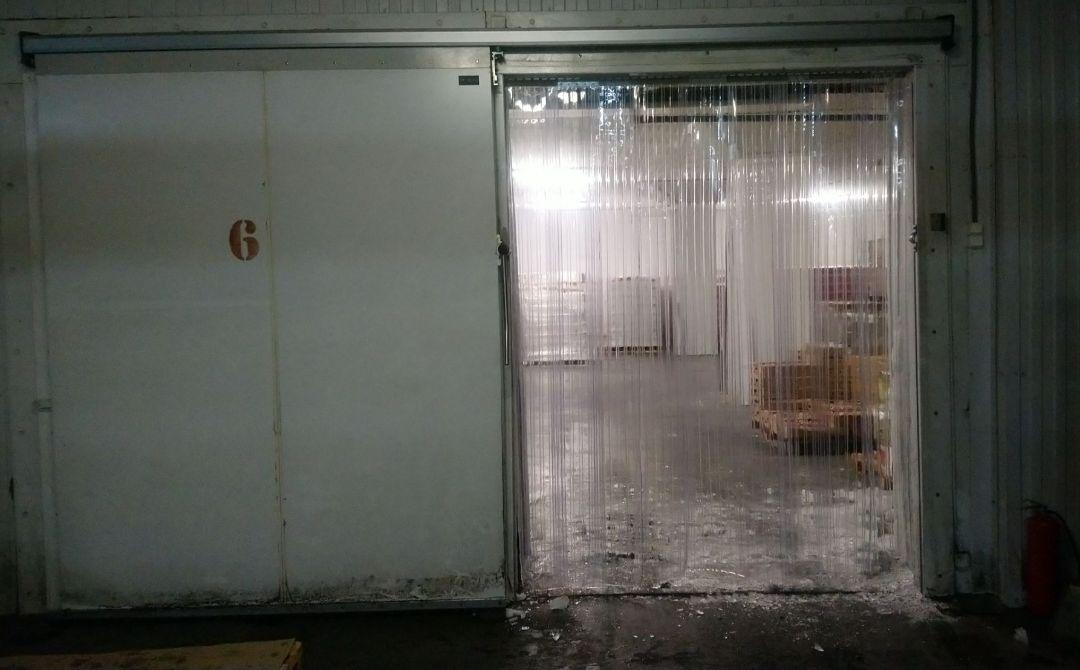 рифленые пвх завесы в морозильной камере