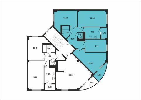 четырехкомнатная квартира