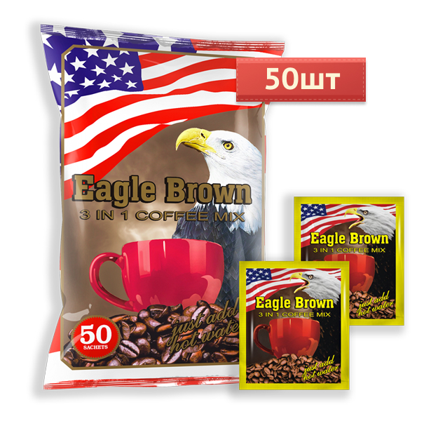 Кофе 3в1 Eagle Brown 1шт