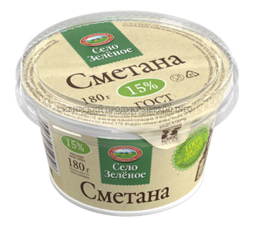 СМЕТАНА 15% БЗМЖ  п/ст  180 гр Село Зеленое Удмуртия