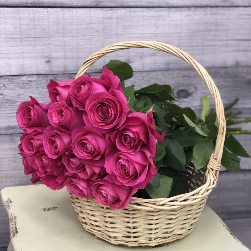 Эквадорская роза 70 см Розовая , 15 штук