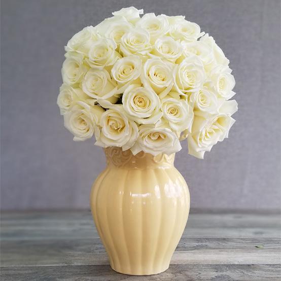Эквадорская белая роза 25 штук